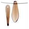 Glass 5X16mm Dagger Transparent Beads Smoked Topaz - Strung